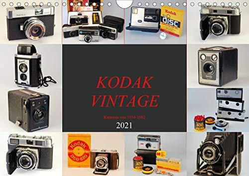 KODAK VINTAGE Kameras von 1934-1982 (Wandkalender 2021 DIN A4 quer)