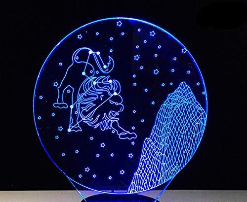 3D Bluetooth Lautsprecher Nachtlicht Leo Multicoloured Touch Led Gradient Visual Schreibtischlampe Bluetooth Musik Nachtlicht Party Usb White Base Geschenk Licht
