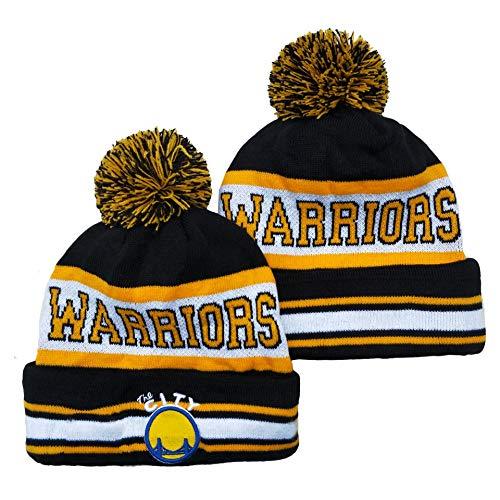 Hanbei Herren Damen Warm Gestrickte Hüte Fan Hat Warriors Basketballkappen Winter Warm Gestricktemütze Outdoor Ski Pompom Cap Beanies Hat
