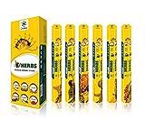 Serie de la Hierba Palos de fragancias Premium - Agradable y Tranquilo Incienso Natural Aroma Sticks - 20 Palos por Caja - Caja de 6 Palillos perfumado petrleo