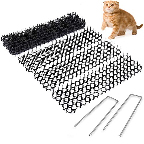 20PCS Cat Scat Mat Met Spikes, Humane Pet Deterrent Mat Voor Katten, Honden En Meer, Anti-Cats Network Digging Stopper Prickle Strip Plantbeschermingsnet Voor Outdoor Garden Farm Fence