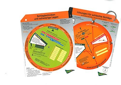 GolfCheck Unisex– Erwachsene, 1 Fächer mit 2 Drehscheiben Golfzubehör, bunt, 22 x 18 cm
