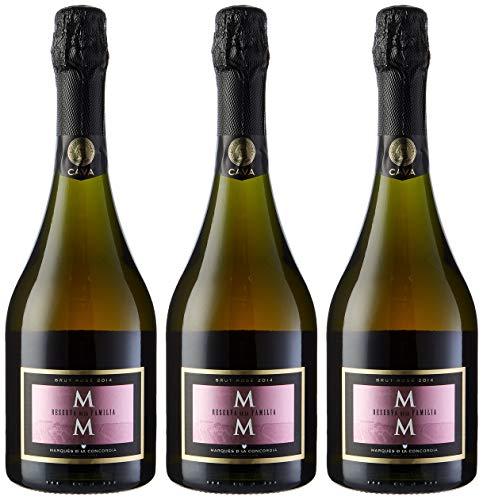 Marqués de la Concordia Reserva De La Familia Rosé Millesima Cava - 3 botellas x 750 ml - Total: 2250 ml - 2250 ml