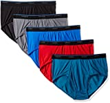 Hanes Men's 5-Pack ComfortBlend Dyed Brief with FreshIQ, Assorted, Medium