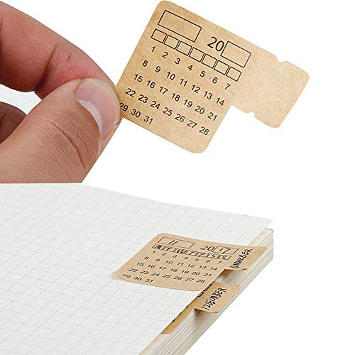 30 Calendar Stickers for Planners Self Adhesive Index Tabs Monthly Index Dividers Bullet Journal/Planners/Agenda