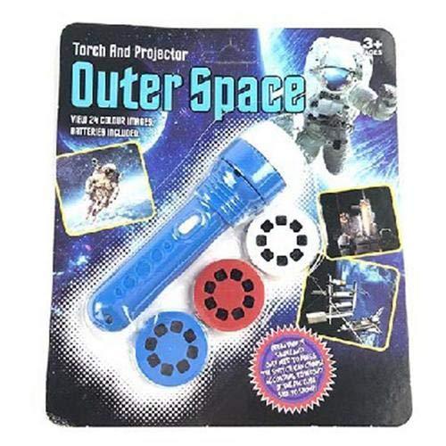 Kinder Projektor Taschenlampe Projektionslampe mit 3 Themen 96 Folien, Tierwelt, Unterwasserwelt für Kleinkind Junge Mädchen