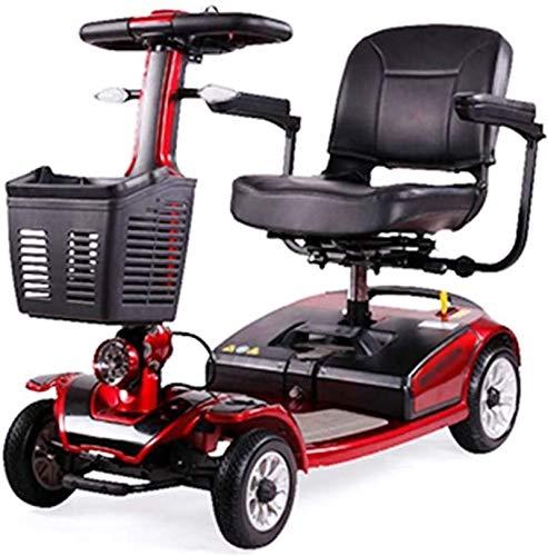 Silla de Ruedas eléctrica, 4 ruedas Scooter eléctrico for Adultos Mayores de energía Scooter Heavy Duty scooter, plegable, que se puede abrir Baranda, 40 cm de ancho de los asientos, 40 kg con la bate