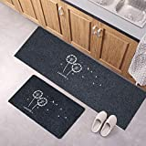 Mdsfe Niedliches Badmatten-Set Küchenteppich Bodenmatte Küche im europäischen Stil Rutschfester Teppich, ölbeständiger Teppichmatten-Teppich Teppich - Himmelblau, 40 cm x 60 cm 40 cm x 120 cm