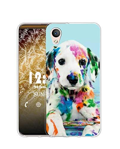 Sunrive Coque Compatible avec Sony Xperia Z3, Silicone Étui Housse Protecteur Souple Gel Transparent Back Case(Q Chien 2)+ Stylet OFFERTS