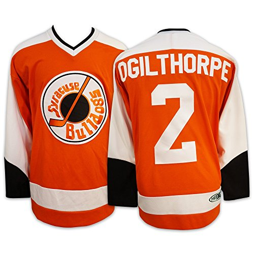 Mad Brothers #2 OGILTHORPE Slapshot Movie Officially Licensed Syracuse Bulldogs Hockey Jersey Made in Canada