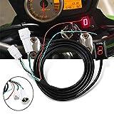 GUAIMI Indicador de marcha de la motocicleta impermeable Pantalla LED (rojo) Plug & play Para Yamaha MT-01 MT-03 WR250R/X YZF-R6/S YZF-R1 FZ1 FZ6/R FZ8