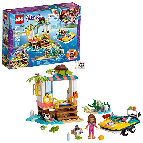 LEGO Friends Turtles Rescue Mission 41376 Build and Play Rescue Toy with Olivia Minifigure and Toy Turtles, Includes Toy Rescue Vehicle and Clinic for Pretend Play, New 2019 (225 Pieces)
