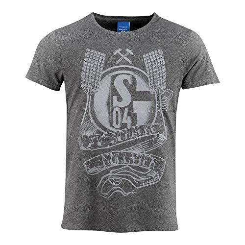 FC Schalke 04 Herren T-Shirt Tattoo Anthra Gr. S - 3XL (L)