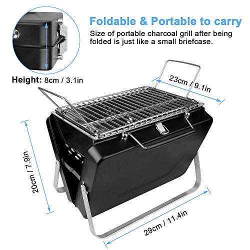 Buy XTBB Portable Grill BBQ Stainless Steel Outdoor Charcoal BBQ Grill Rack Folding BBQ Barbecue Acc...