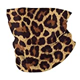 Leopard Print Face Scarf Cover Mask - Neck Gaiter Sun Dust Bandanas Headwear for Fishing Motorcycling Running
