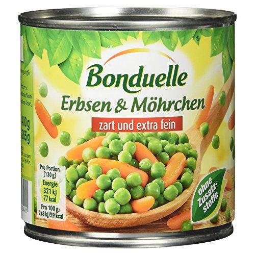 Bonduelle Erbsen & Möhrchen zart und extra fein, 12er Pack (12 x 400g)