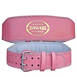 FARABI - Cintura per Sollevamento Pesi, Colore: Rosa