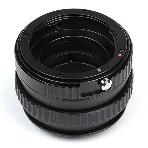 Pixco - Adaptador de lente ajustable macro a infinito para objetivo Nikon G a cámara Canon EOS M M10 M3 M2 M1