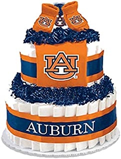 Collegiate Diaper Cakes - Baby Gifts for the Sports Fan--College Themed Diaper Cakes Featuring Your School Logo (Standard, Auburn)