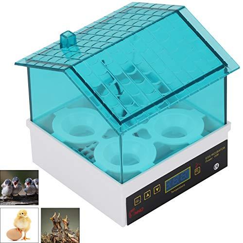 MorNon Motorbrüter Inkubator 4 Eier Brutmaschine Brutapparat automatisch Flächenbrüter für Puten Hühner Vögeln und Anderen Eiern