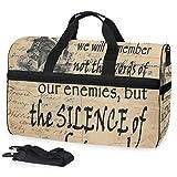 Wir Werden Uns an die Stille der Freunde erinnern Inspirierend 02 Große Reisetasche Reisetasche fürs Wochenende Reisetasche für die Nacht Sporttasche Fitness Sporttasche mit Schuhfach