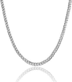 سلسلة من الفضة الاسترلينية عيار 925 من مجوهرات U7 بعرض 1.3 ملم - سلسلة ايطالية بابزيم على شكل روبيان - رفيعة للغاية - جودة...