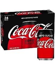 Coca Cola Zero, geen suiker 330ml blikjes - 24 Pack