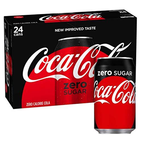 Coca Cola Zero, geen suiker 330ml blikjes – 24 Pack