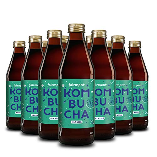 "Fairment lebendiger Kombucha ""Klassik"" - 12 Flaschen 330 ml Bio Kombucha Tee unpasteurisiert"