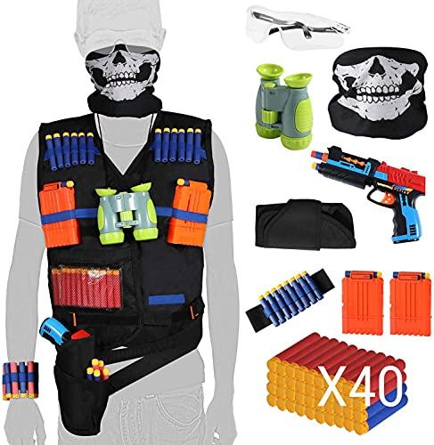 HOMILY Kids Tactical Vest Kits Boy Toys Gifts for Nerf Guns N-Strike Elite Series