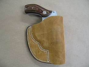 Azula Inside The Pocket Leather Concealment Holster for Smith and Wesson S&W Airweight 5 Shot Revolver CCW ITP