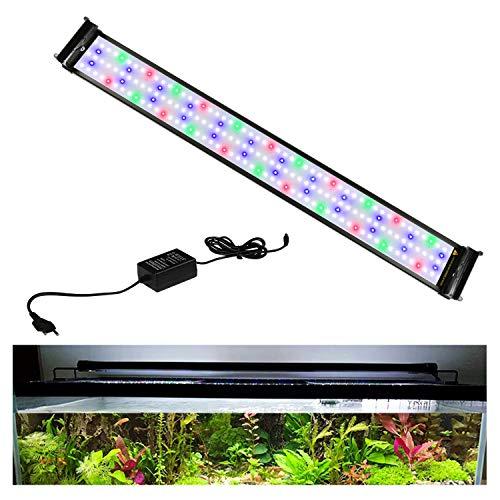 Hengda 31W LED Aquarium Lighting Zubehörleuchte LED Aquarium Light ist geeignet, einstellbares Licht, RGB und blaues Licht, für 90-115 cm Aquarium