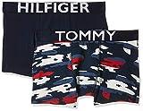Tommy Hilfiger 2p Trunk Camo Stripe Bañador, Multicolor (Multi 034), Talla única (Talla del Fabricante: 10-12) (Pack de 2) para Niños