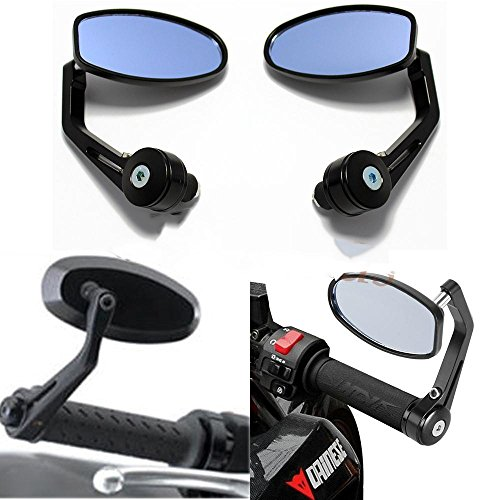Evomosa Espejo Lateral del Manillar de la Motocicleta, Espejos Retrovisores universales de Moto 7/8 '' 22 mm