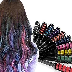 10 Colores Peine Cabello Tinte Cabello,Peine de Tiza de Pelo para Niños DIY Cosplay ideal para Navidad,cumpleaños,fiestas