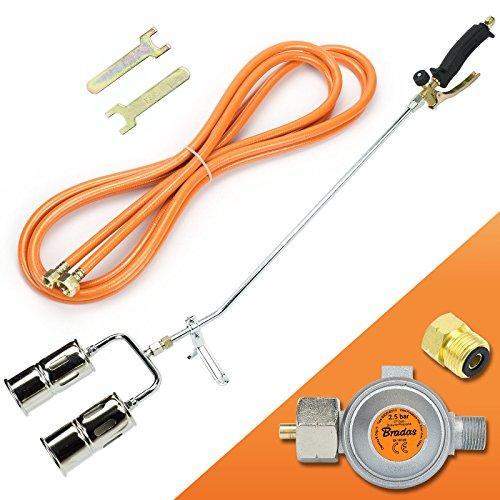 Gasbrenner 110KW Dachbrenner Brenner mit 2-Düse Mitteldruckregler SN0285R2