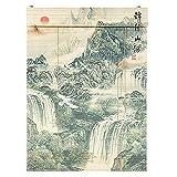Tende a rullo Stanza in stile giapponese Privacy Shade di Privacy 65-135 cm di larghezza di 100-230 cm ad alta, naturale tessuto di bambù in tessuto romano ciechi romani filtranti a rulli tapparelle p