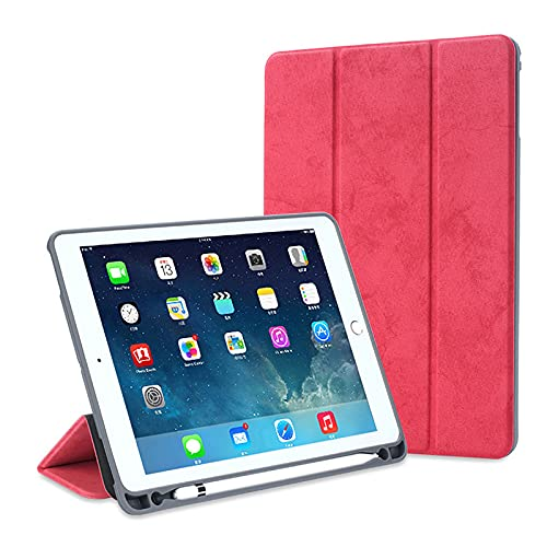 HHF Pad Accesorios para iPad Mini5 2019, Retro Floral Pattern Pantalla Pen Slot Flip Flat Clee Funda Protectora Protectora para iPad Mini 4 3 2 1 (Color : Rojo, Talla : iPad mini5 2019)