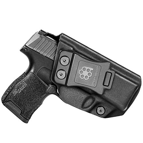 Amberide IWB KYDEX Holster Fit: Sig Sauer P365 / P365 SAS | Inside Waistband | Adjustable Cant | US KYDEX Made (Black, Right Hand Draw (IWB))