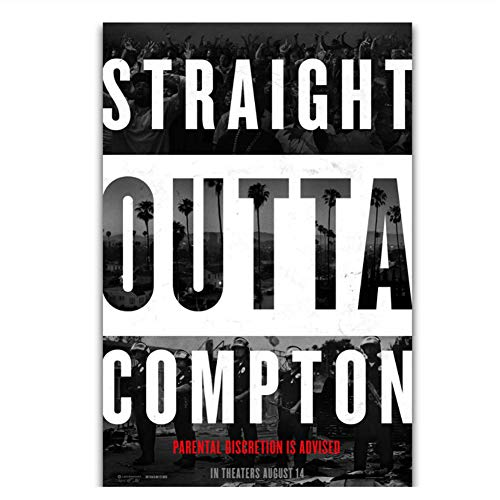 Gerade Outta Compton NWA Rapper Star Rap Hip Hop Film Wandkunst Gemälde Druck auf Leinwand Poster Home Decoration -20x28 Zoll No Frame