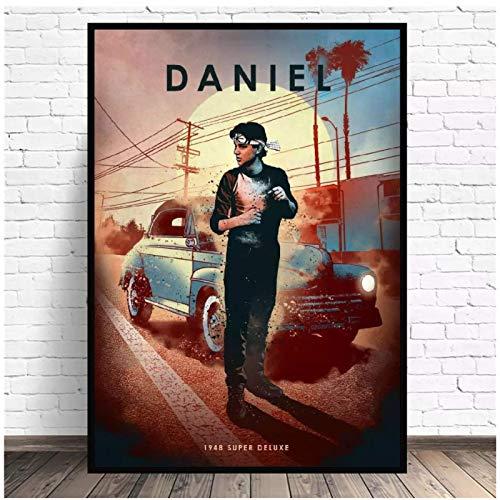 Karate Kid lienzo pintura película coche arte impresión cartel imagen pared moderno minimalista dormitorio sala de estar decoración 24x36 pulgadas sin marco