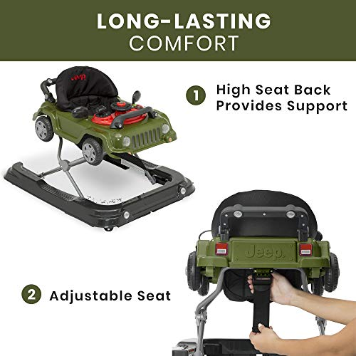 Jeep Classic Wrangler 3-in-1 Grow With Me Walker, Anniversary Green
