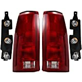 Epic Lighting OE Replacement Rear Brake Tail Lights Left & Right Sides Pair with Bulb Sockets & Connector Plates for 1988-2000 C10 K10 Blazer Yukon Tahoe Suburban Sierra GM2800104 GM2801104 5977867 5977868