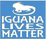 Yilooom Iguana Lives Matter Sticker Lizard Terrarium Decal - Die Cut Vinyl Car Decal Sticker Bumper Sticker Window Laptop Sticker 2 Pack 12 Inches At Longest End