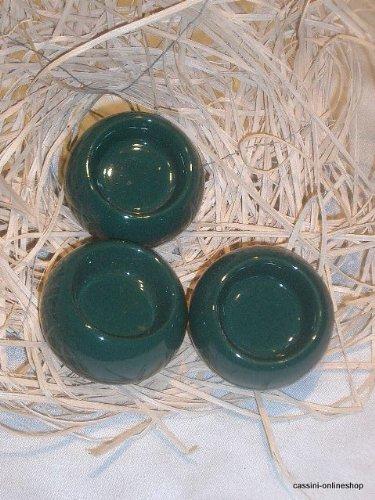 Teelichter 3er Set  Fb. grün