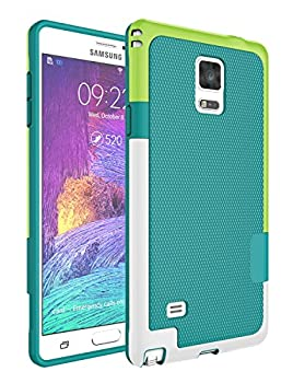 Note 4 Case Galaxy Note 4 Case Jeylly [3 Color] Slim Hybrid Impact Rugged Soft TPU & Hard PC Bumper Shockproof Protective Anti-Slip Case Cover Shell for Samsung Galaxy Note 4 Verizon - Green