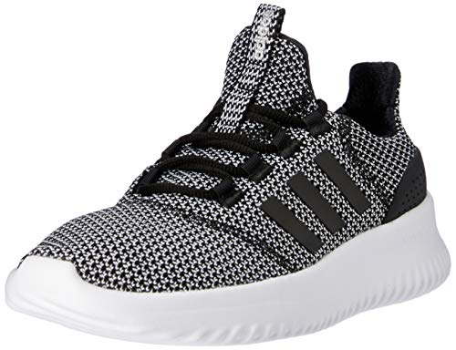 adidas Cloudfoam Ultimate, Unisex Kid's Low-Top Trainers, Black (Core Black/Core Black/Silver Metallic), 4 UK (36 2/3 EU)