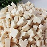 Florex Schafmilchseife mini mini Herz 50 Stück SCHNEEROSE - WEIß Seife Gastgeschenk