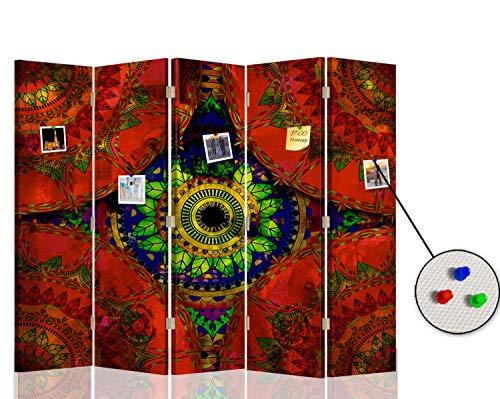 F FEEBY WALL DECOR Separador Corcho Dibujo 5 Paneles
