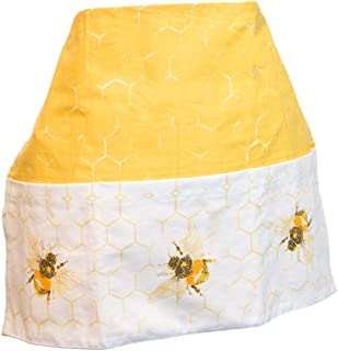 Boston International URB19252 Cotton Garden Waist Apron with 3 Pockets, 15 x 20-inches, Save the Bees